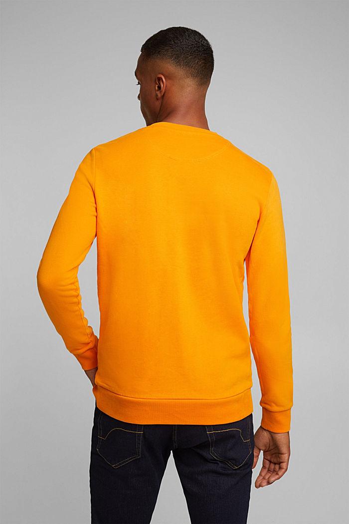 Sweatshirt in 100% cotton, ORANGE, detail image number 3