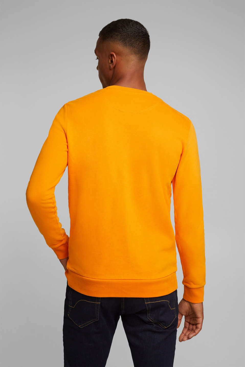 Sweatshirt in 100% cotton, ORANGE, detail image number 3