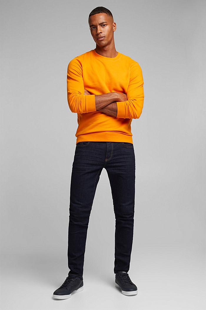 Sweatshirt in 100% cotton, ORANGE, detail image number 4