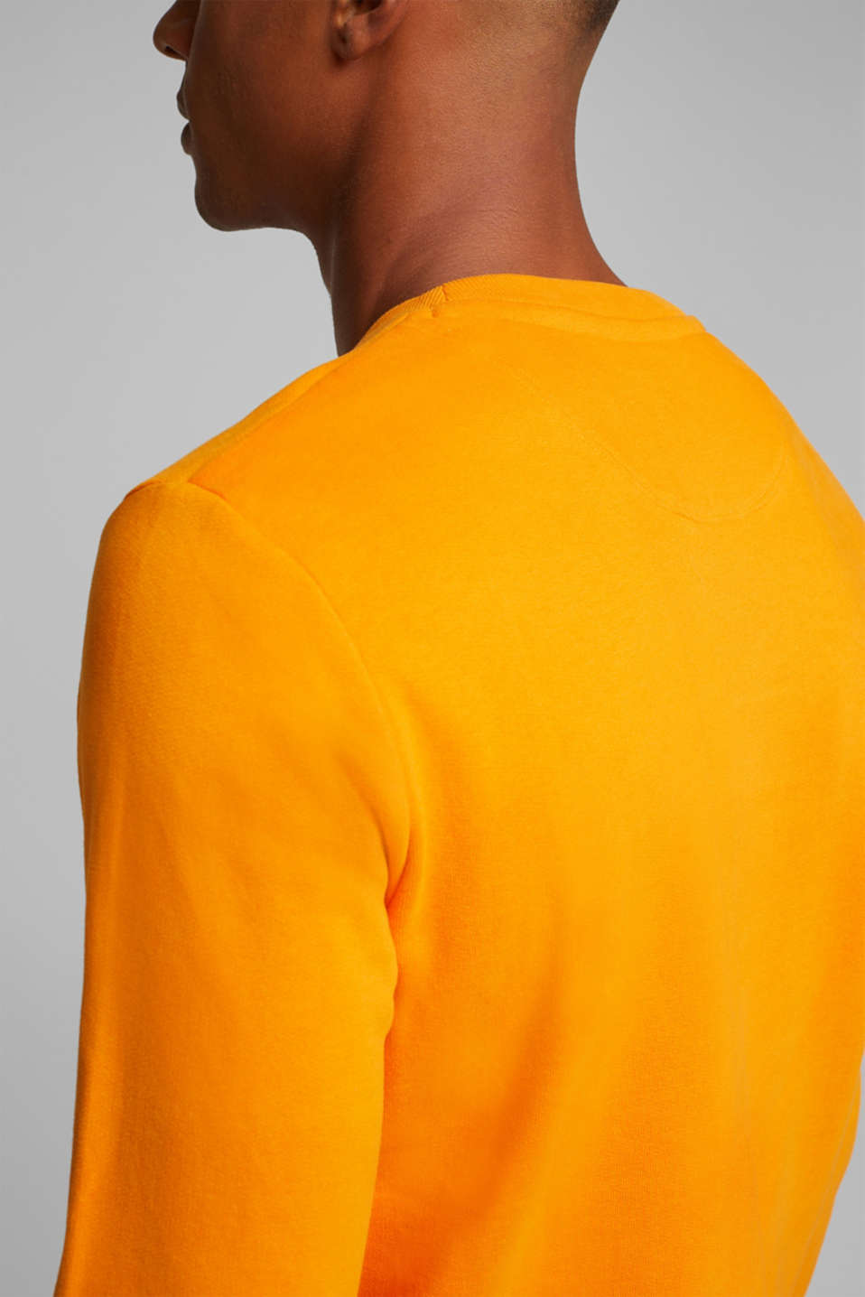 Sweatshirt in 100% cotton, ORANGE, detail image number 2