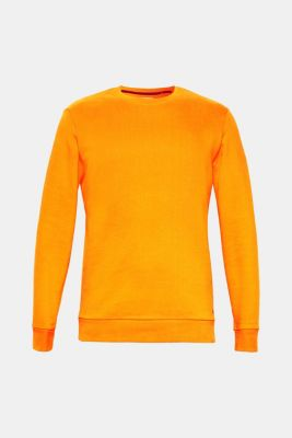 Sweatshirt in 100% cotton, ORANGE, detail