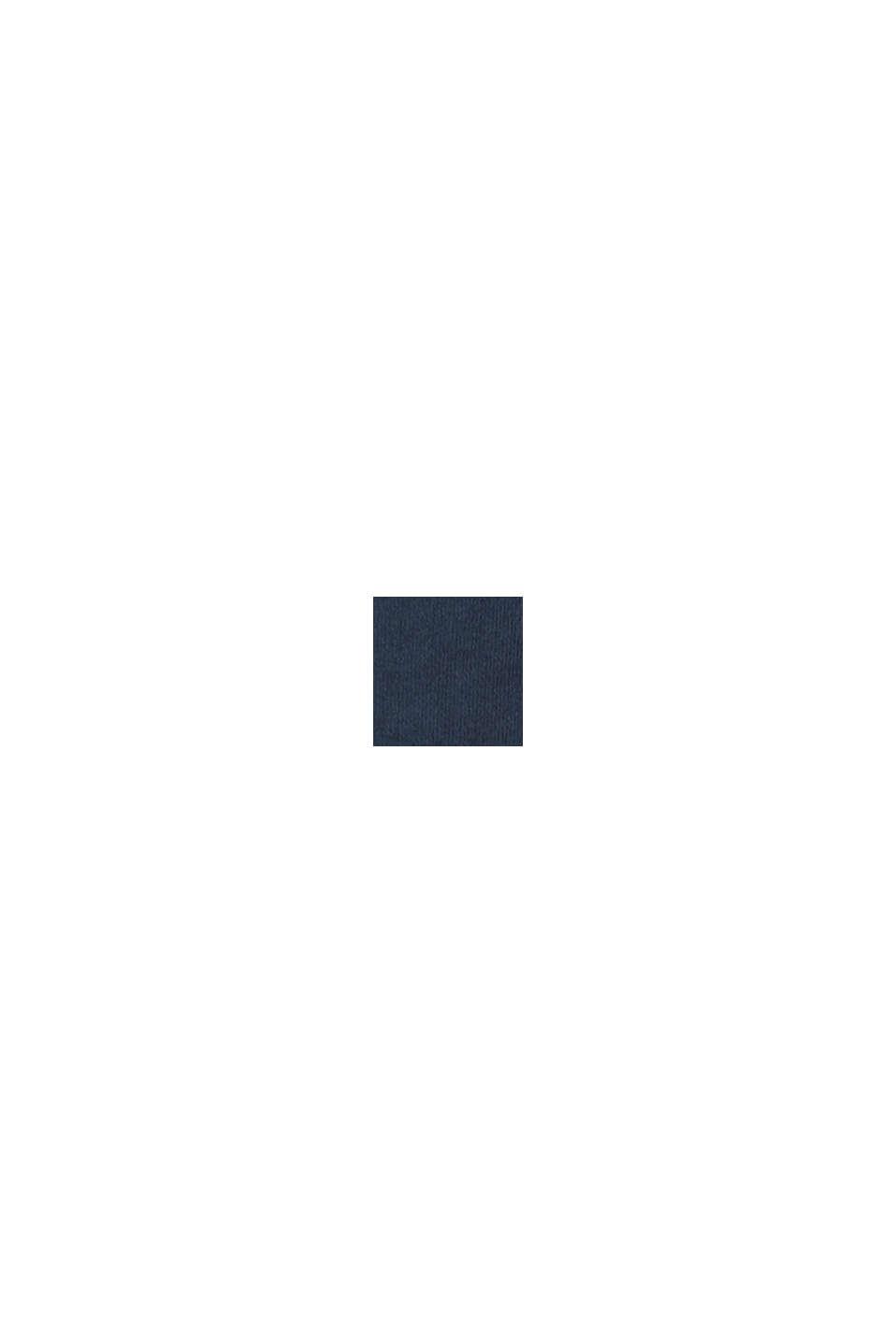 Sweat à capuche et logo imprimé, 100% coton, NAVY, swatch