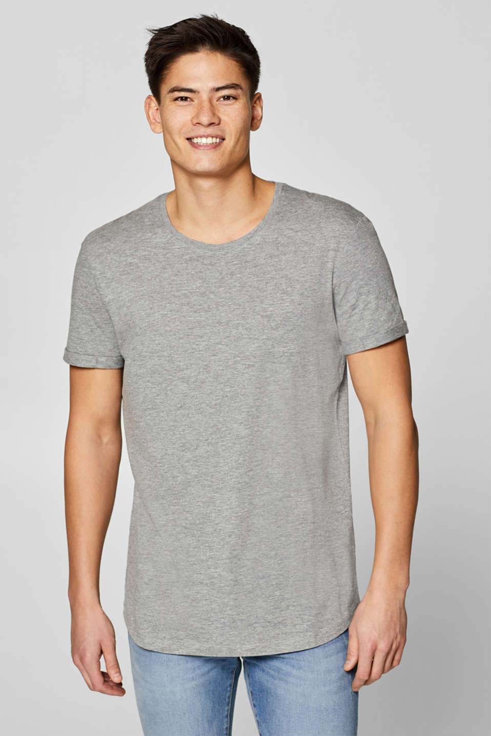 edc - Melange jersey t-shirt with organic cotton