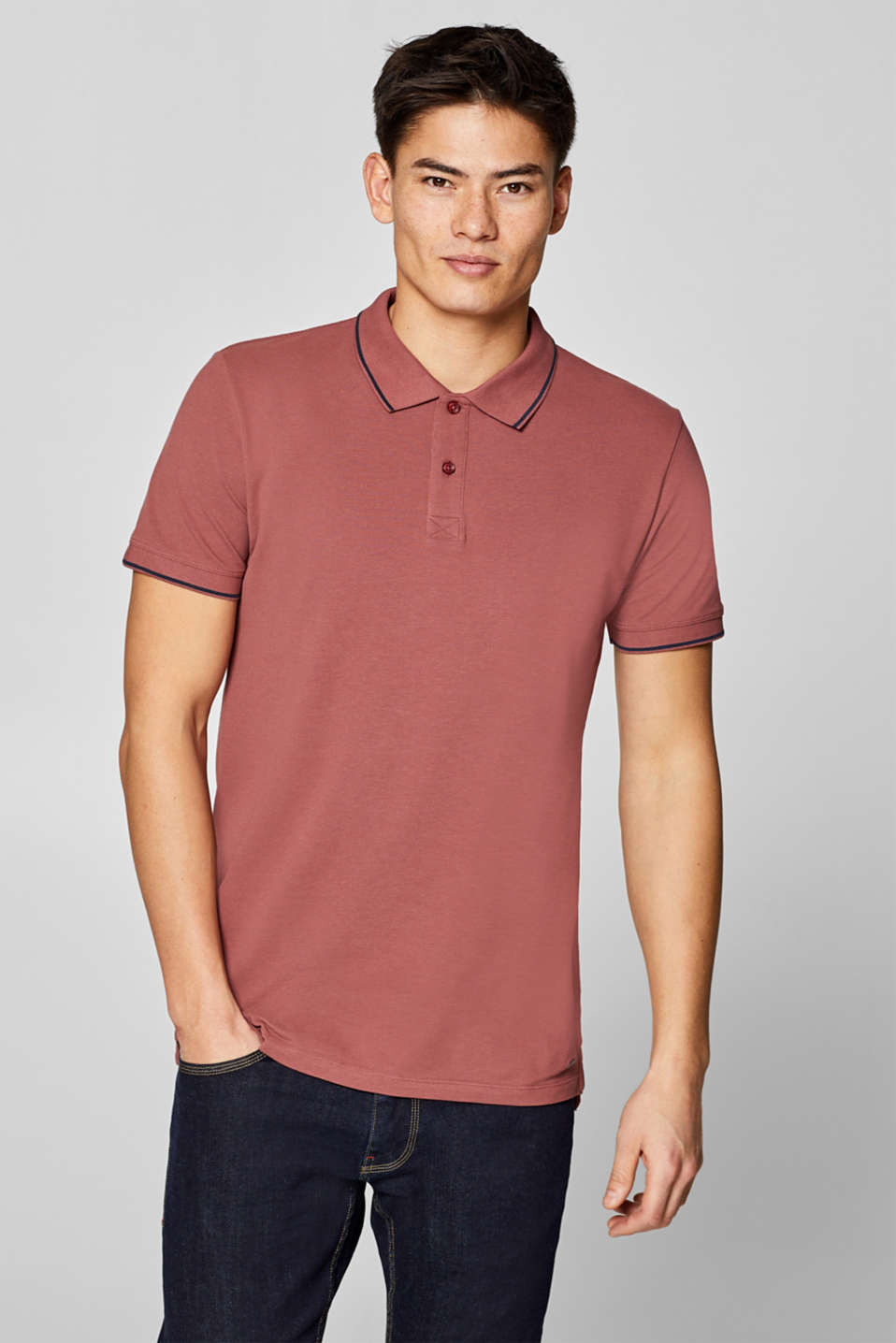 edc - Piqué polo shirt in 100% cotton