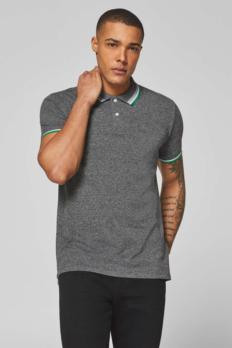 edc - Piqué polo shirt in blended cotton