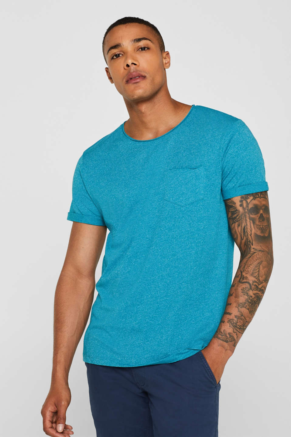 edc - Jersey T-shirt in blended cotton