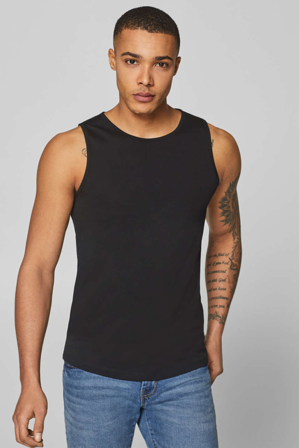 edc - 100% cotton jersey tank top