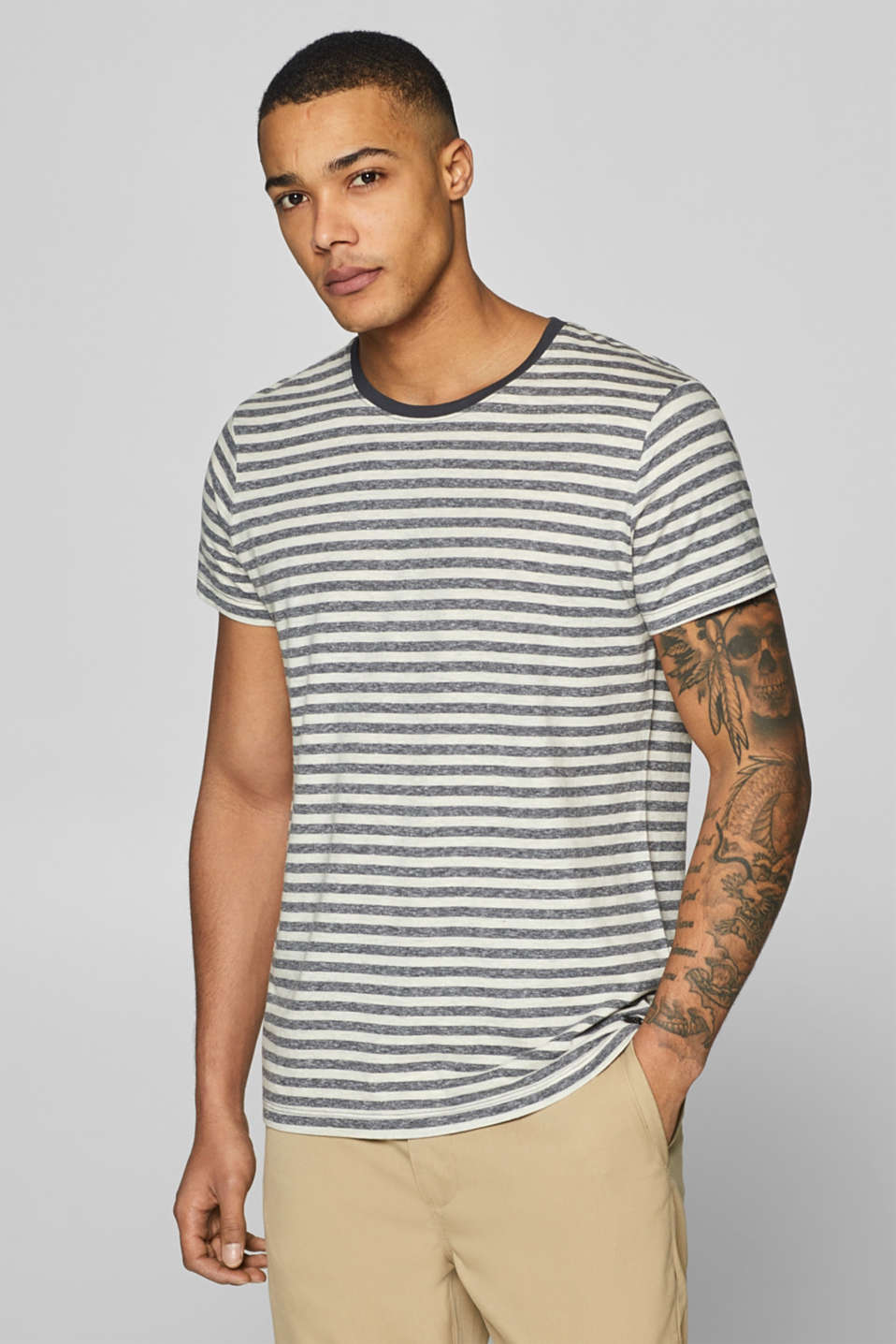edc - Melange striped jersey T-shirt