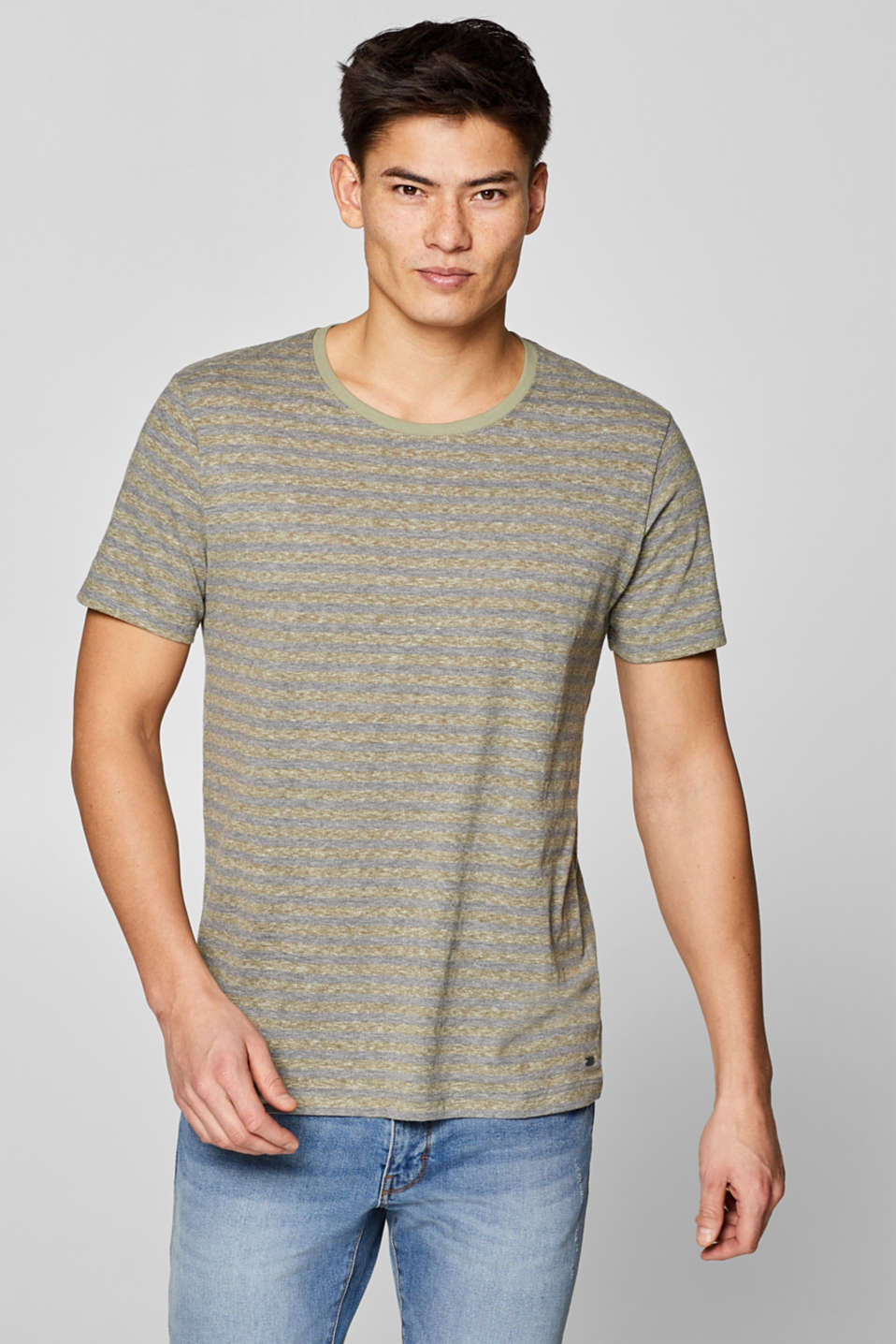 Melange striped jersey T-shirt