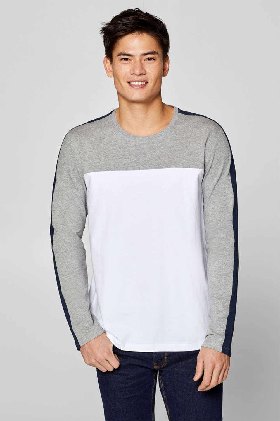 edc - Jersey long sleeve top with racing stripes