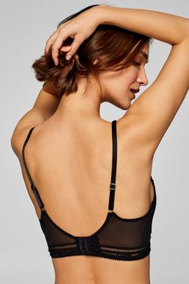 Padded non-wired bra in blended material
