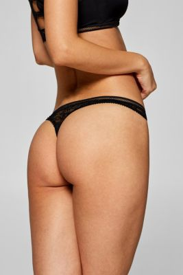 Hipster thong in a material mix