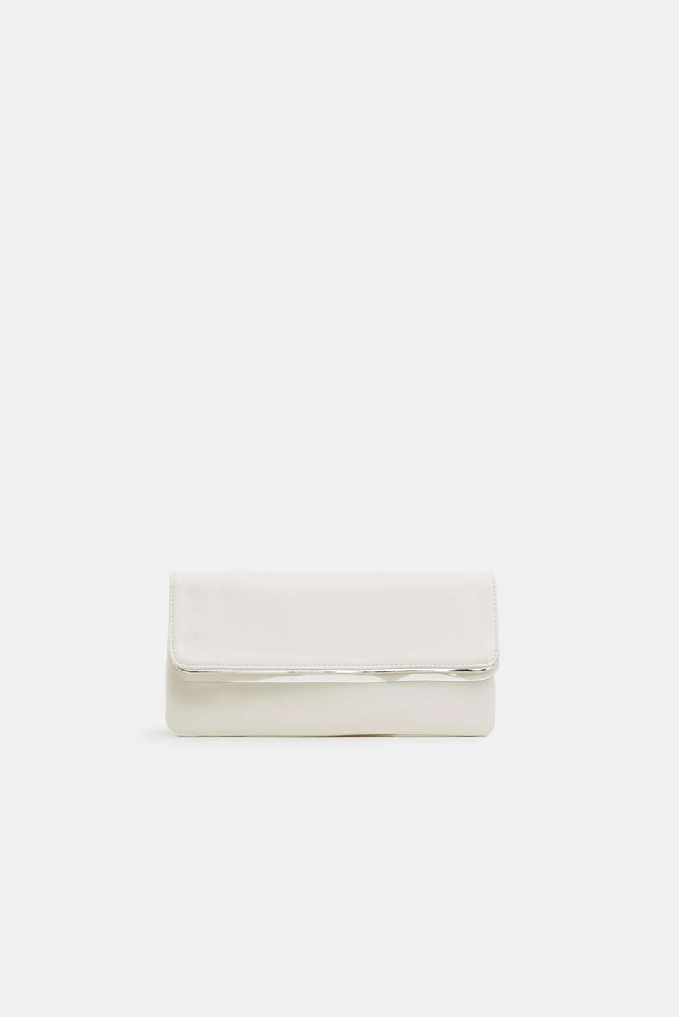 Esprit - Clutch with transparent sections, in faux leather