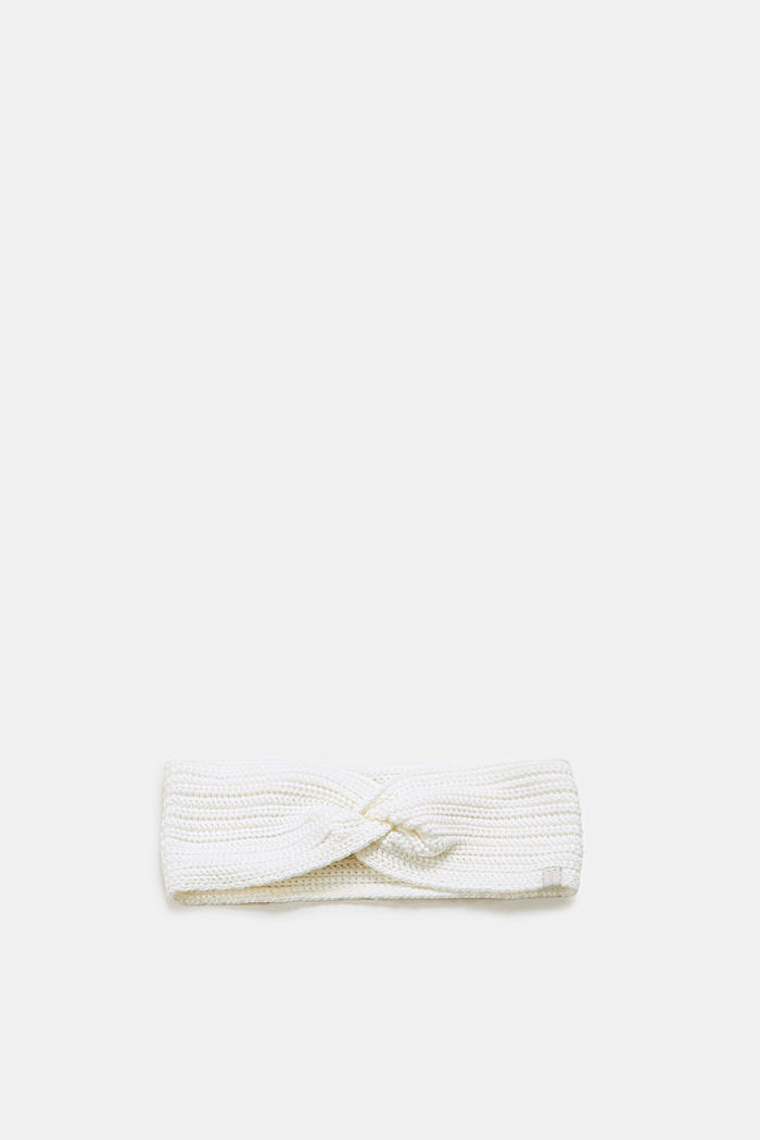 Stirnband mit Ripp-Muster, OFF WHITE, detail image number 0