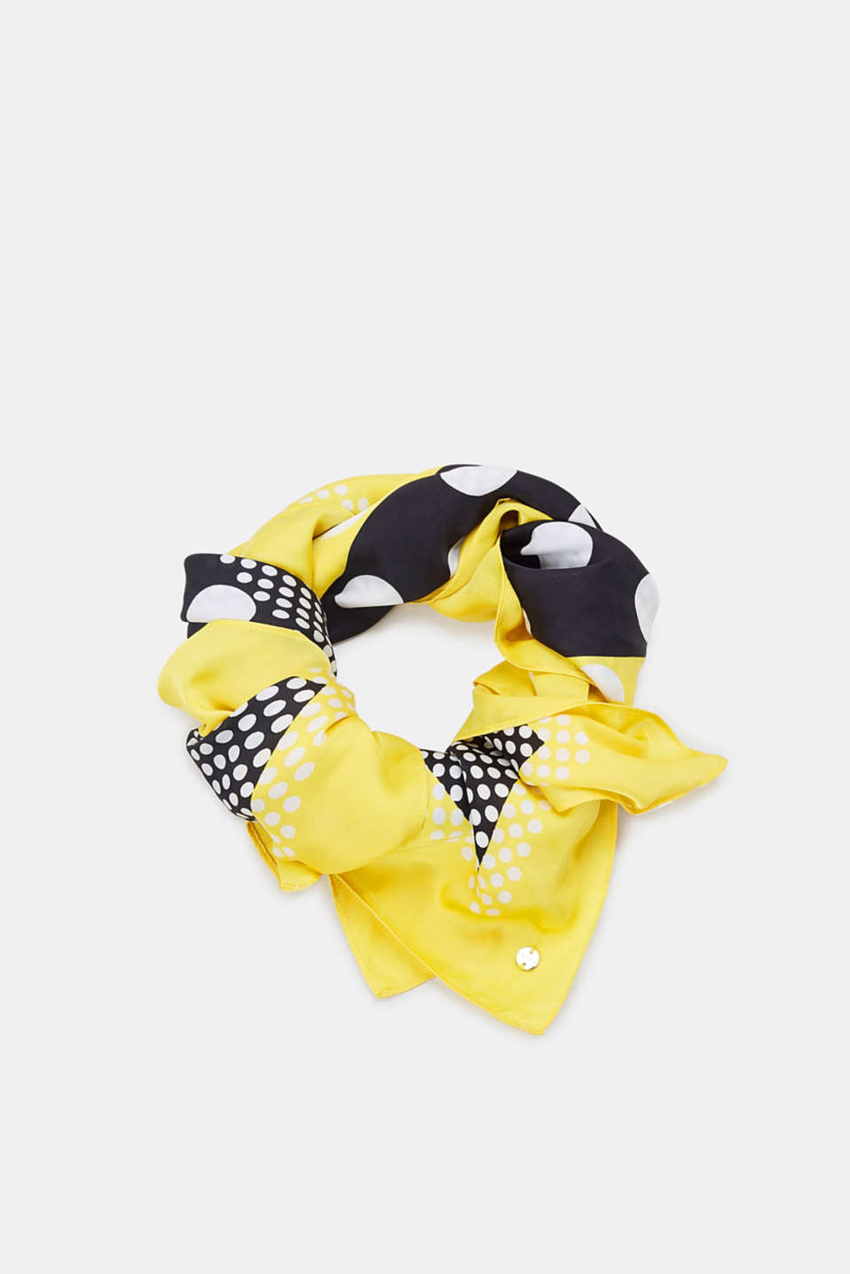 Esprit - Scarf with polka dots, recycled