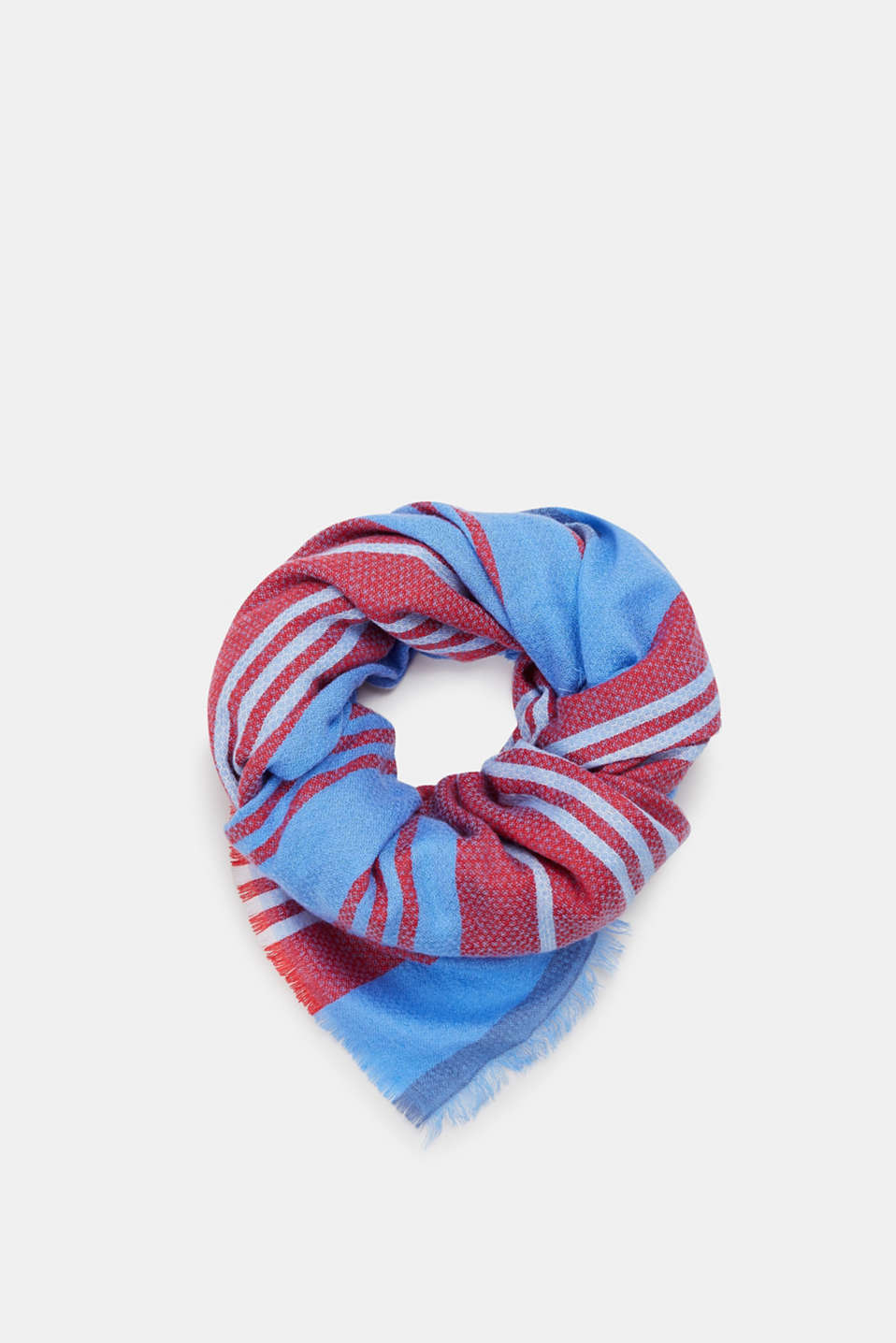 Esprit - Oversized scarf with stripes
