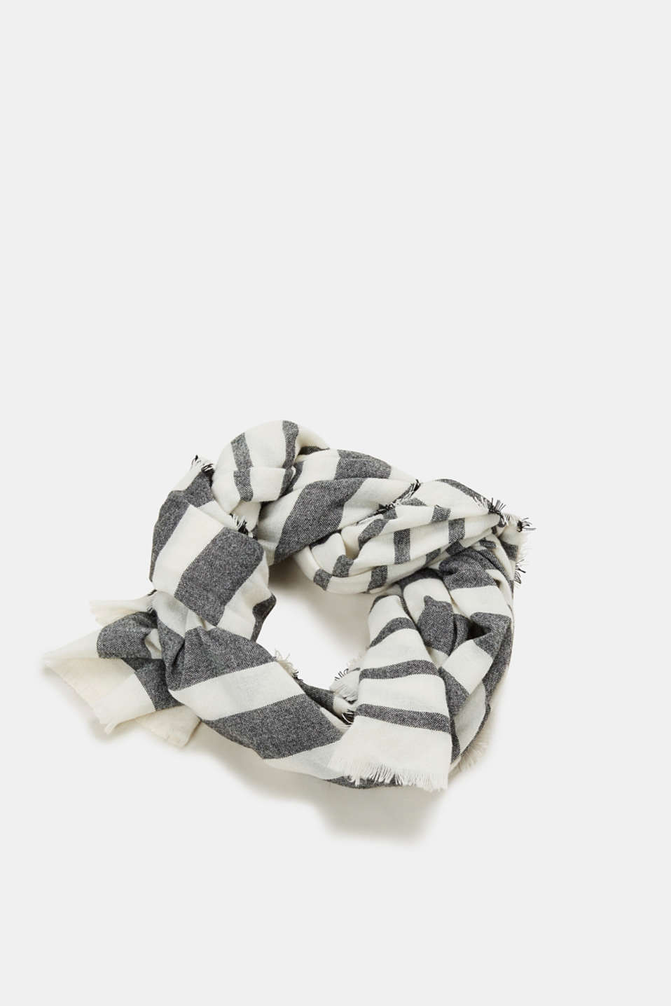 Esprit - Woven scarf with stripes