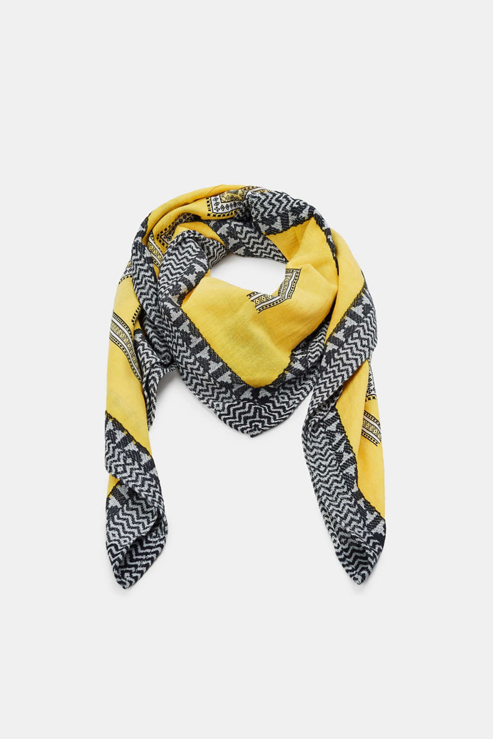 Esprit - Scarf with ethnic pattern