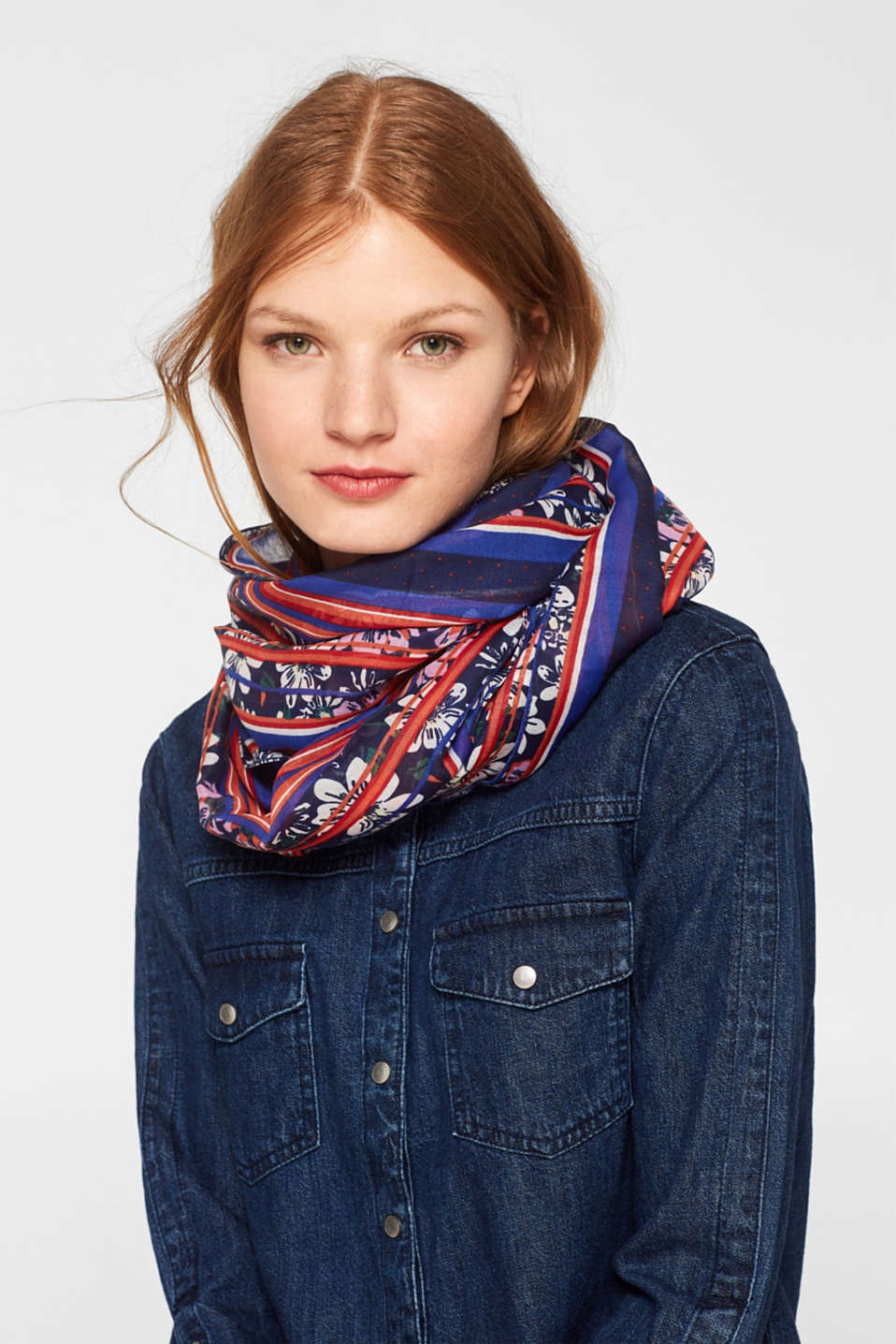 Shawls/Scarves, NAVY, detail image number 1