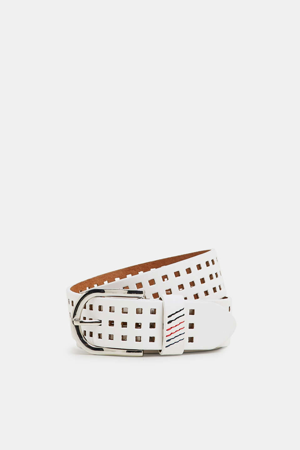 Esprit - Leather belt with perforations