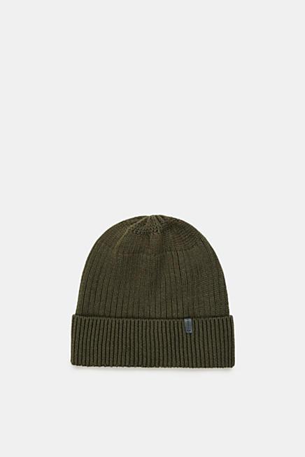 Con lana  berretto in maglia a coste ba57b80add3c