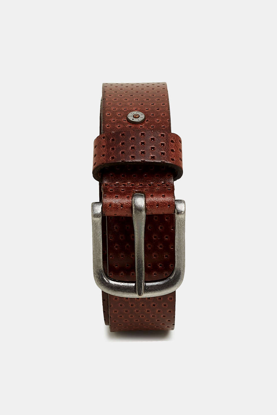 Esprit - Belt with all-over embossing, made of leather
