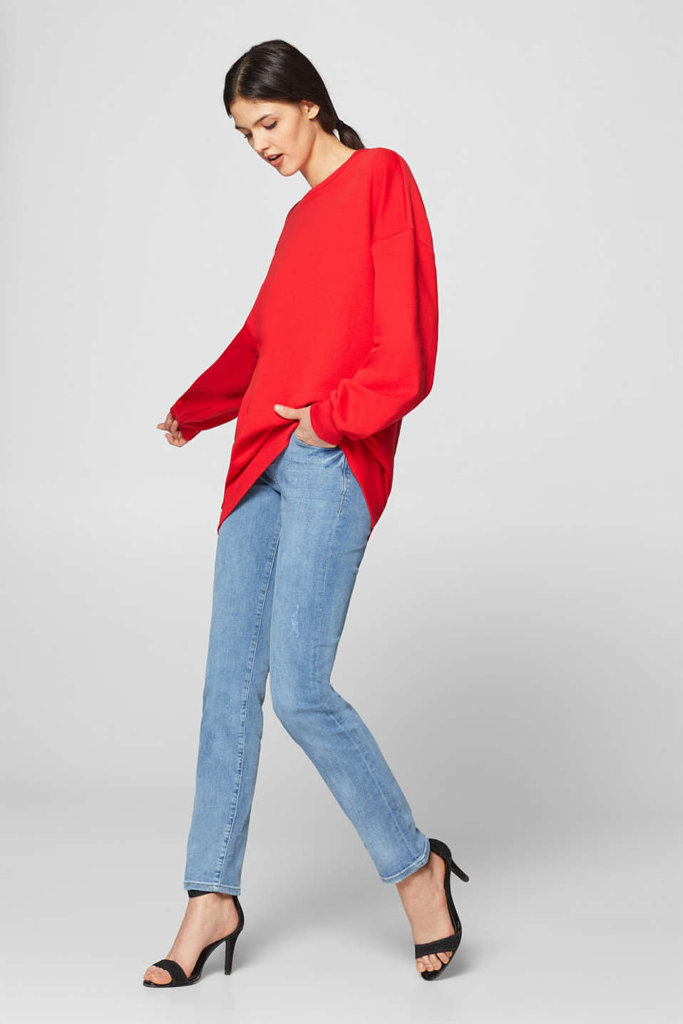 Esprit - Stretch jeans with an embellished coin pocket