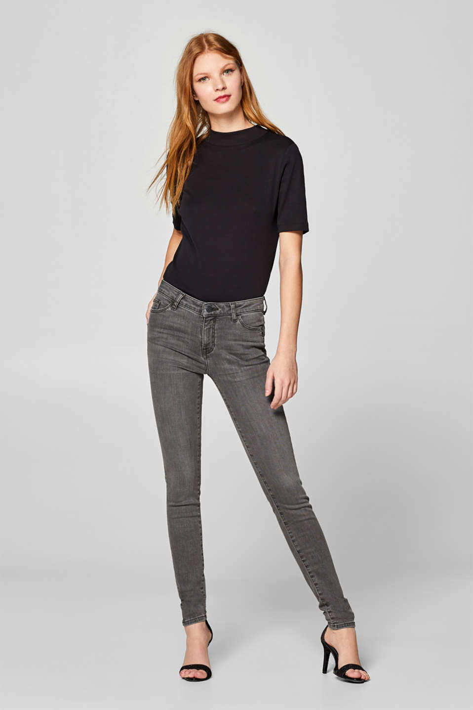 Esprit - Shaping-Jeans in grauer Waschung