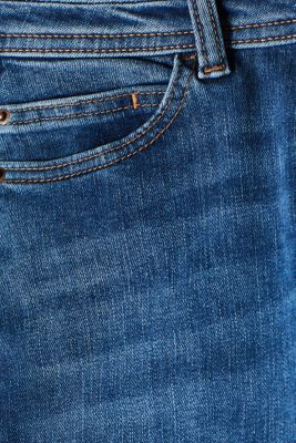 Stretch jeans with a wide waistband and two buttons