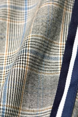 Stretch Prince of Wales check trousers with racing stripes