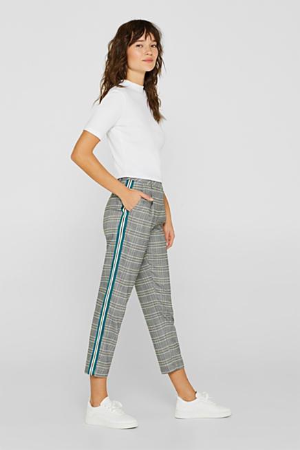 Strečové kalhoty chino s lampasy 478842f88c