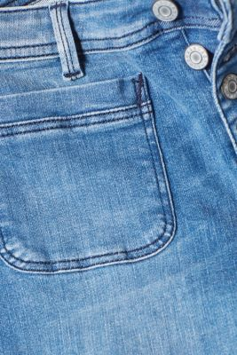 Bootcut stretch jeans with button fly