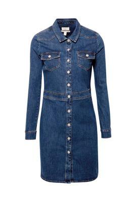 98df0d96553e61 Durchgeknöpftes Stretch-Jeans-Kleid69