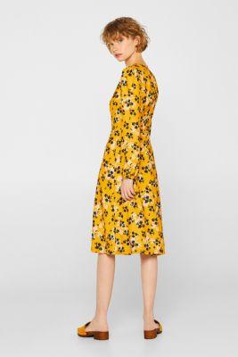 0c383a500826 Esprit - Midi-kjole med blomsterprint i Esprits Online-Shop