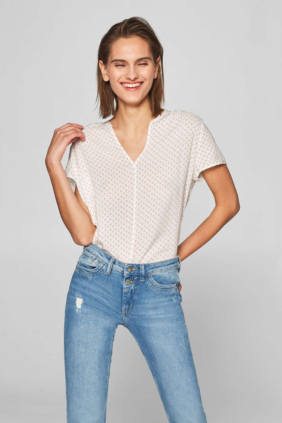 Esprit - Floaty printed blouse