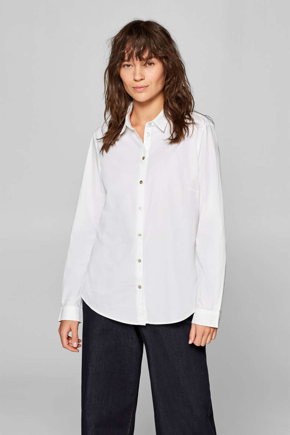 Esprit - Stretch-Bluse mit Organic Cotton