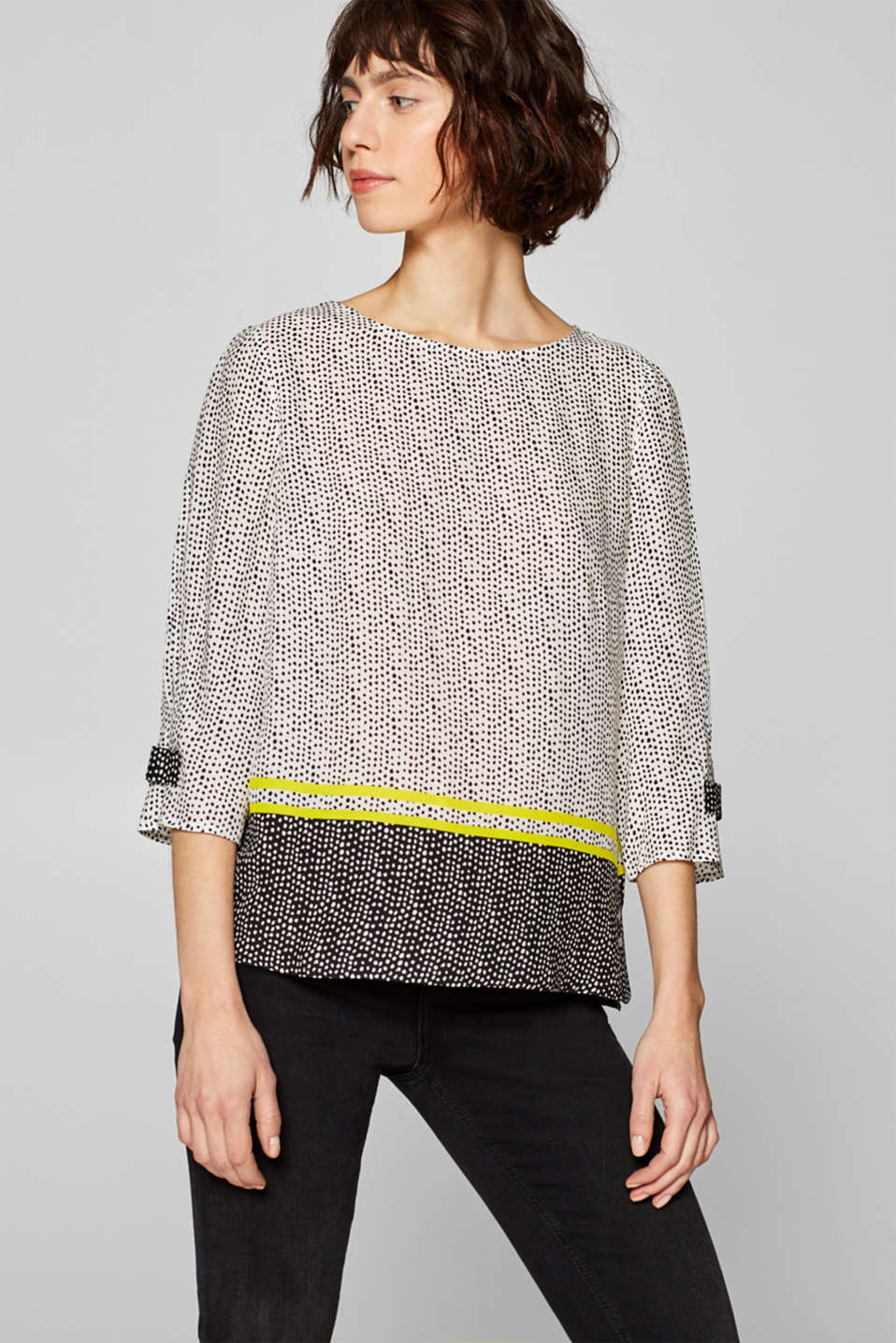 Esprit - Blouse with a polka dot print