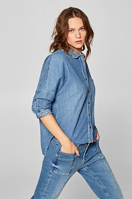 Camicia di jeans con effetti usati febf4bae8f5