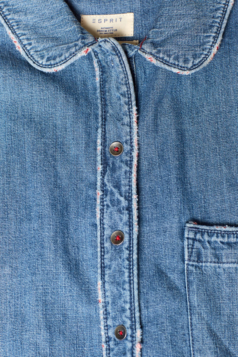 Blouses denim, BLUE MEDIUM WASH, detail image number 4