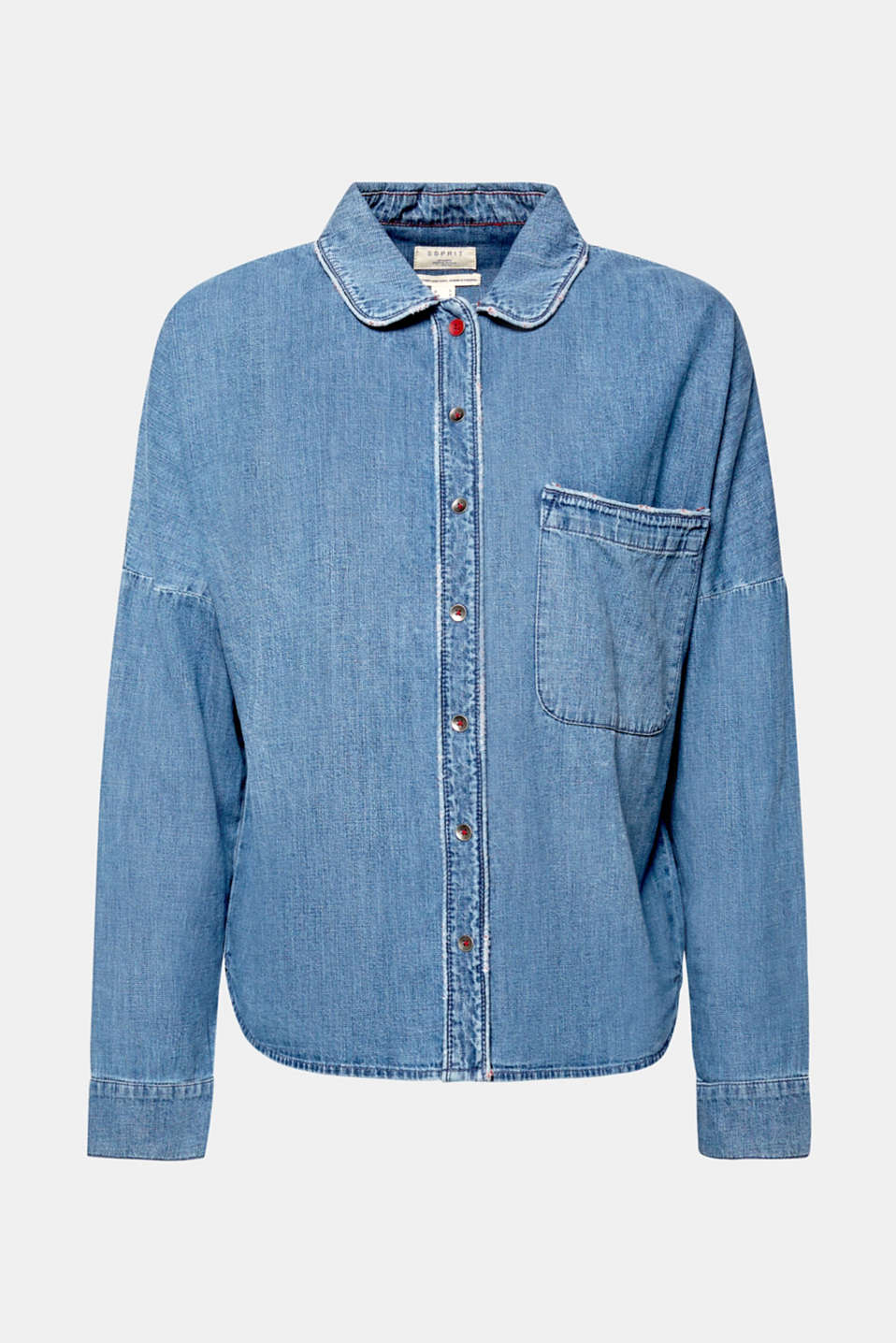 Blouses denim, BLUE MEDIUM WASH, detail image number 8