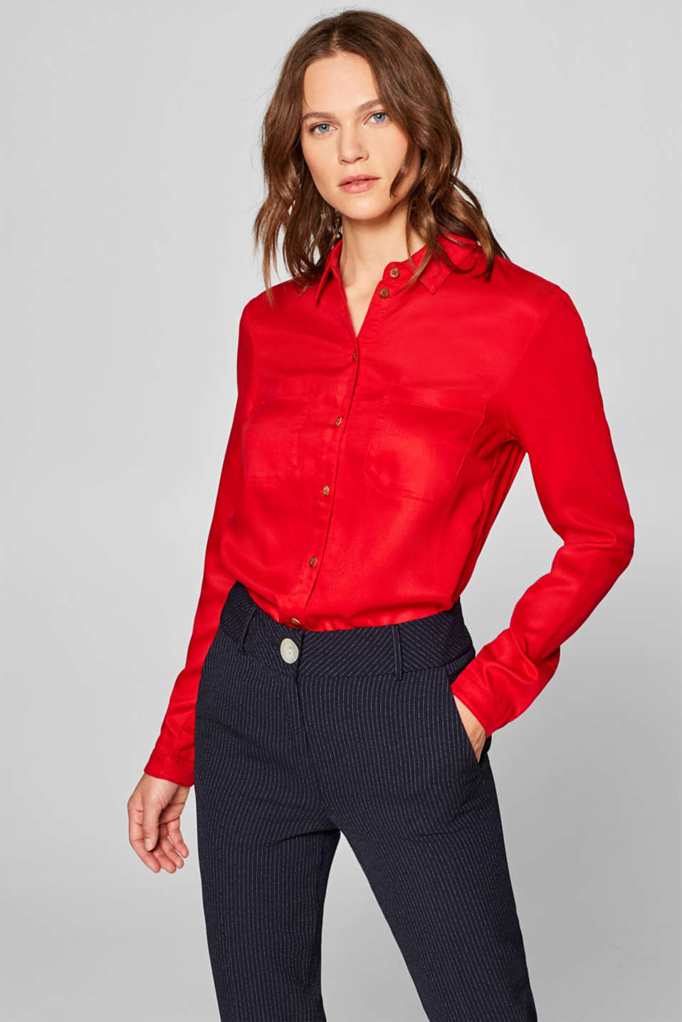 Esprit - Shirt blouse with breast pockets