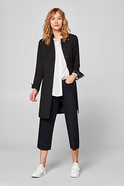 Cappotto stile blazer sciancrato in piqué con stretch aed1342ebf4e