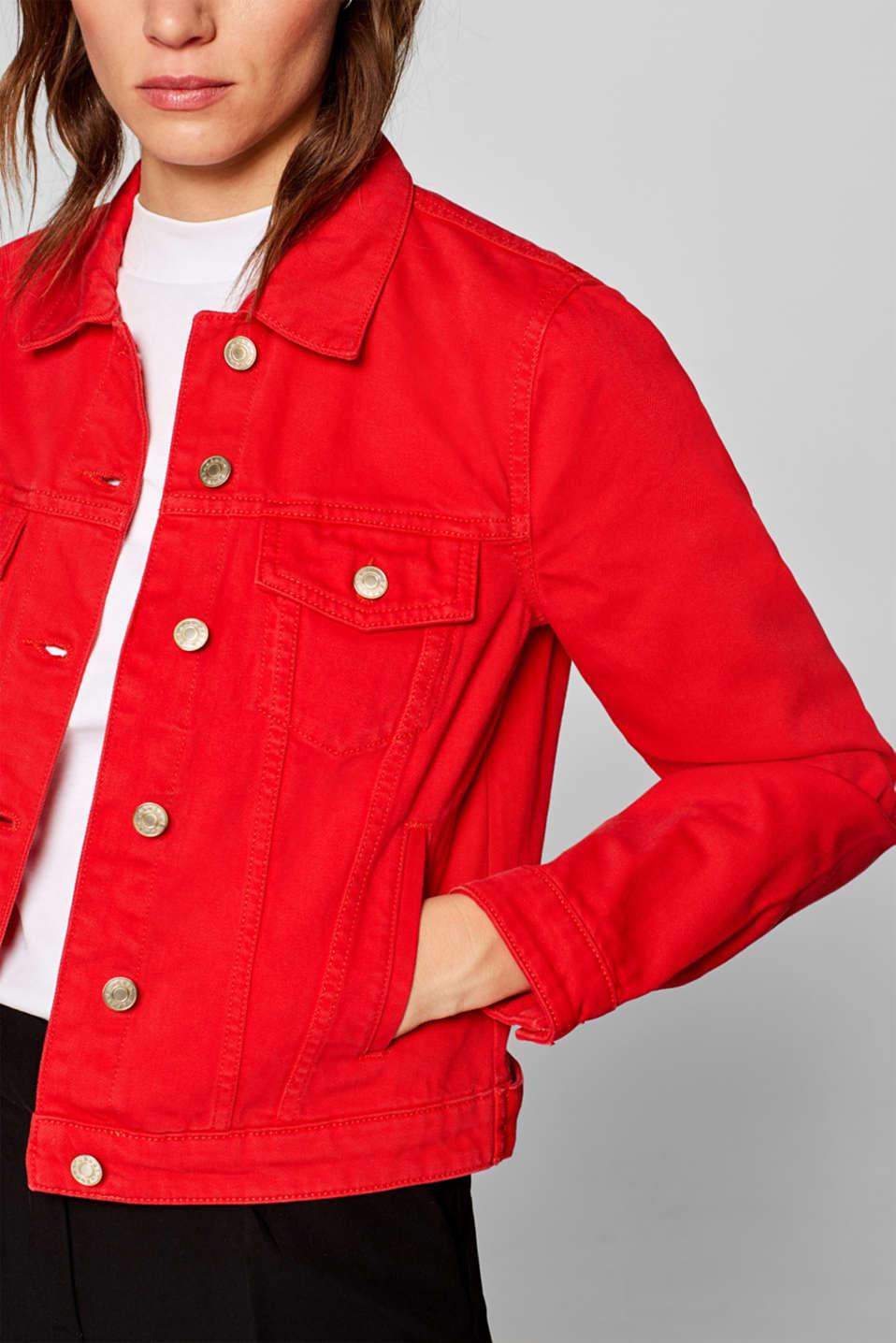 Esprit - Denim jack met organic cotton, 100% katoen kopen in de online shop