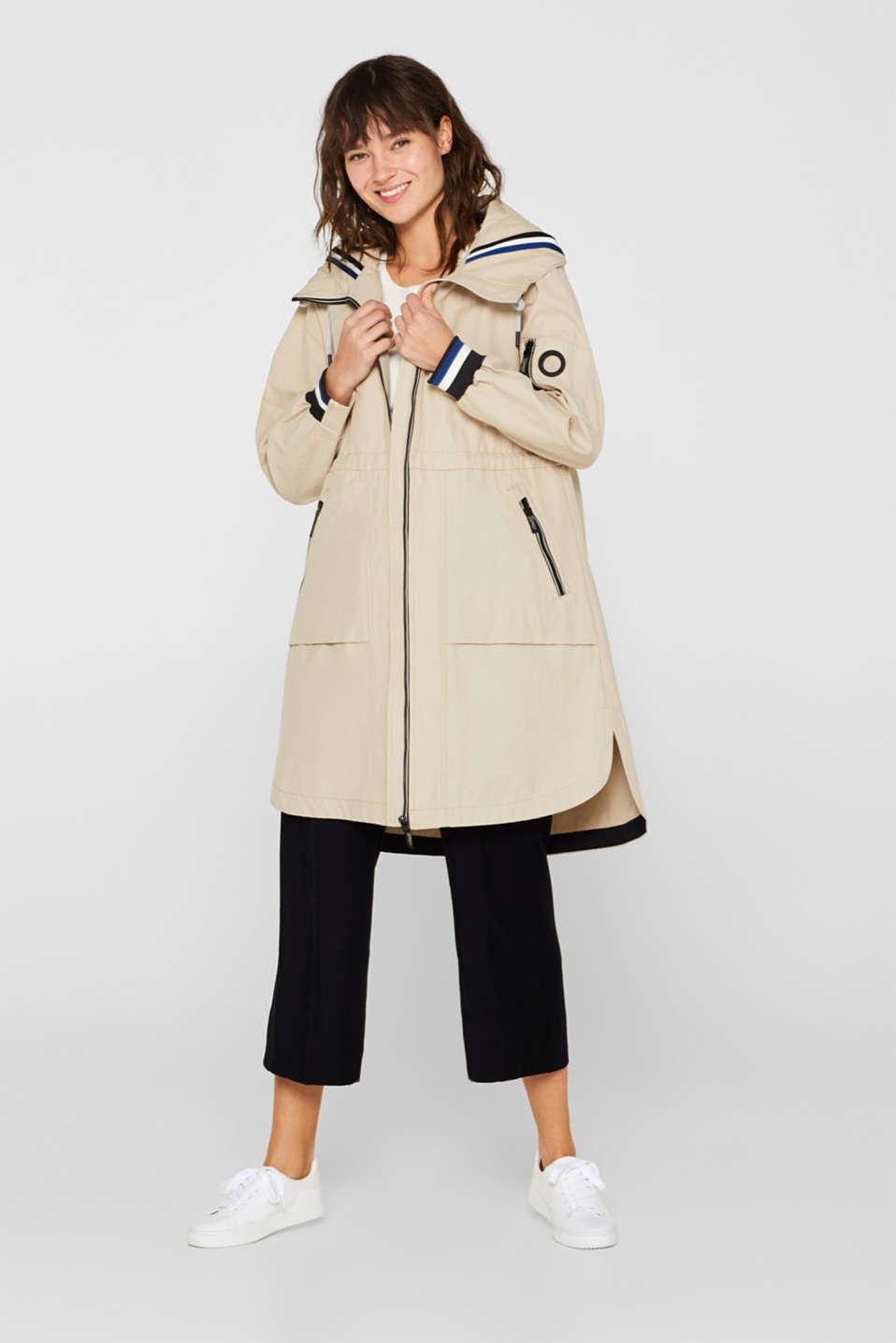 Coats woven, LIGHT BEIGE, detail image number 1