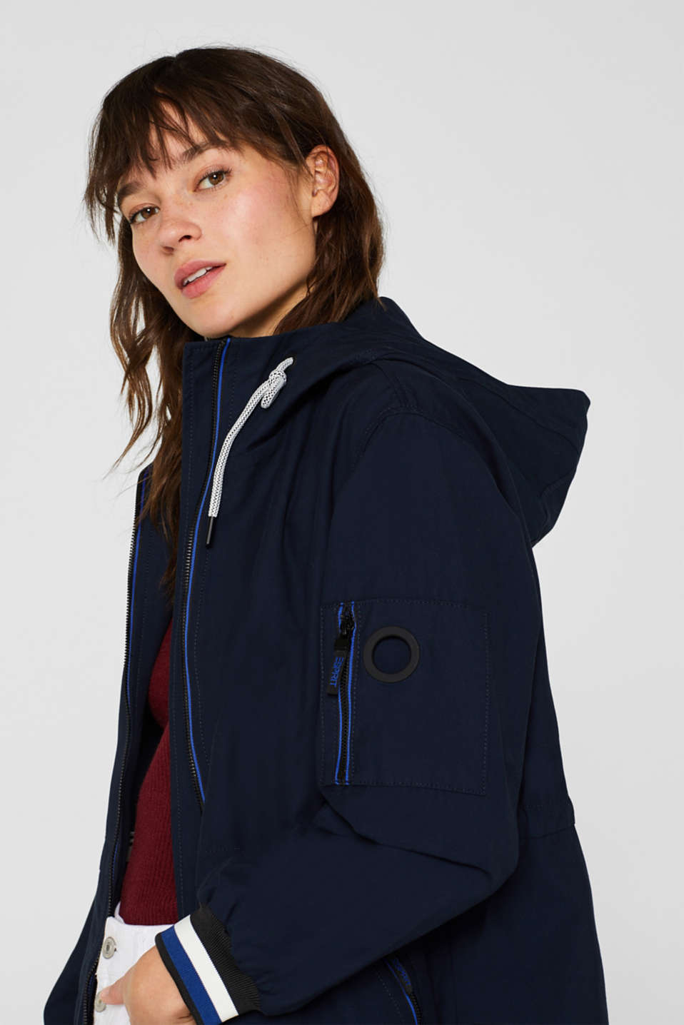 Coats woven, NAVY, detail image number 7