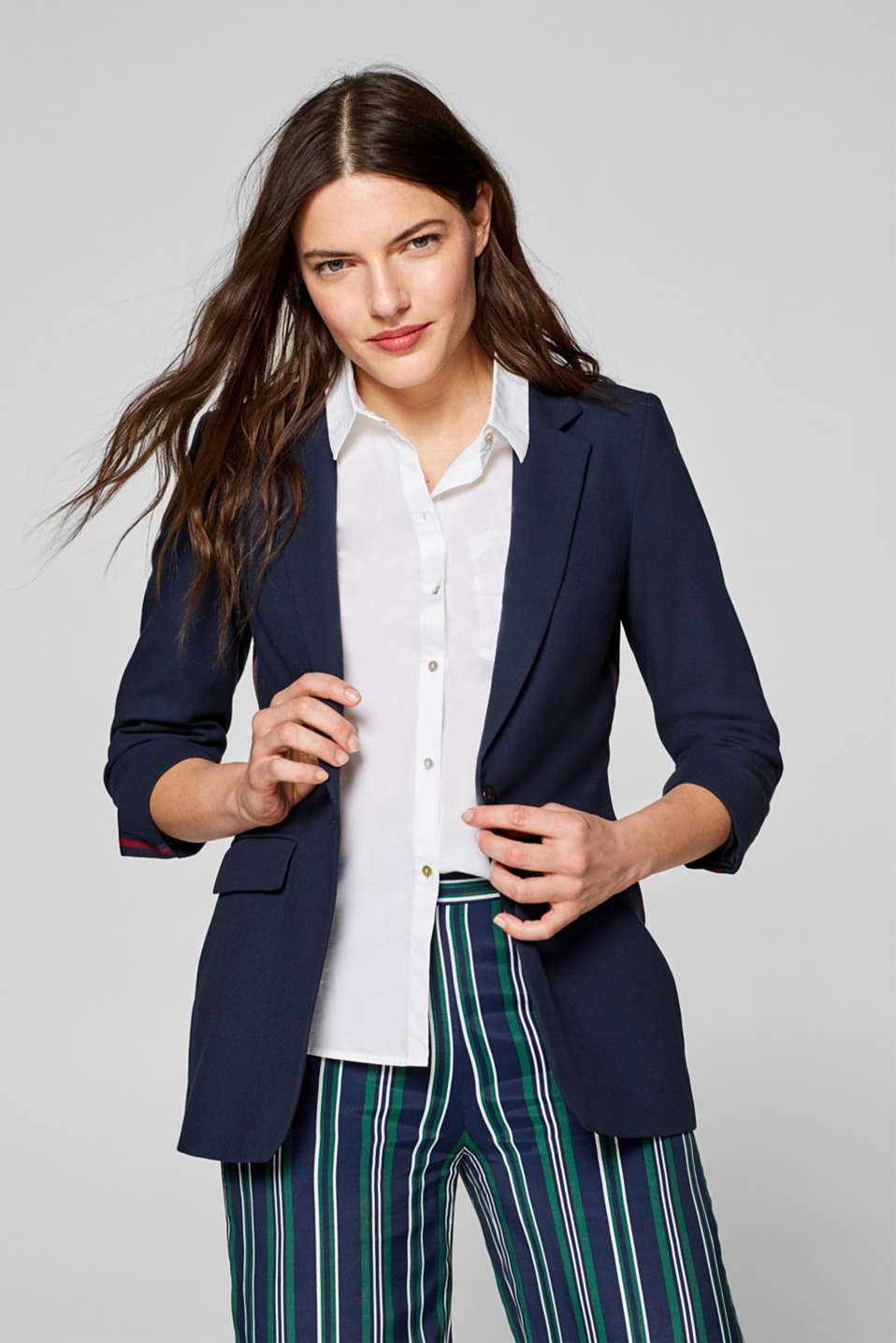 Esprit - Stretch blazer with racing stripes