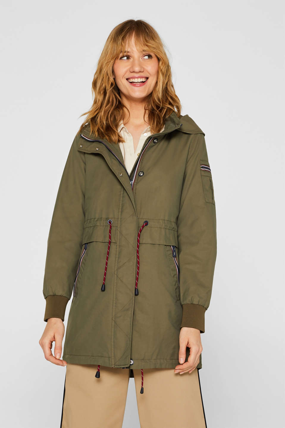 Esprit - Parka with a detachable hood