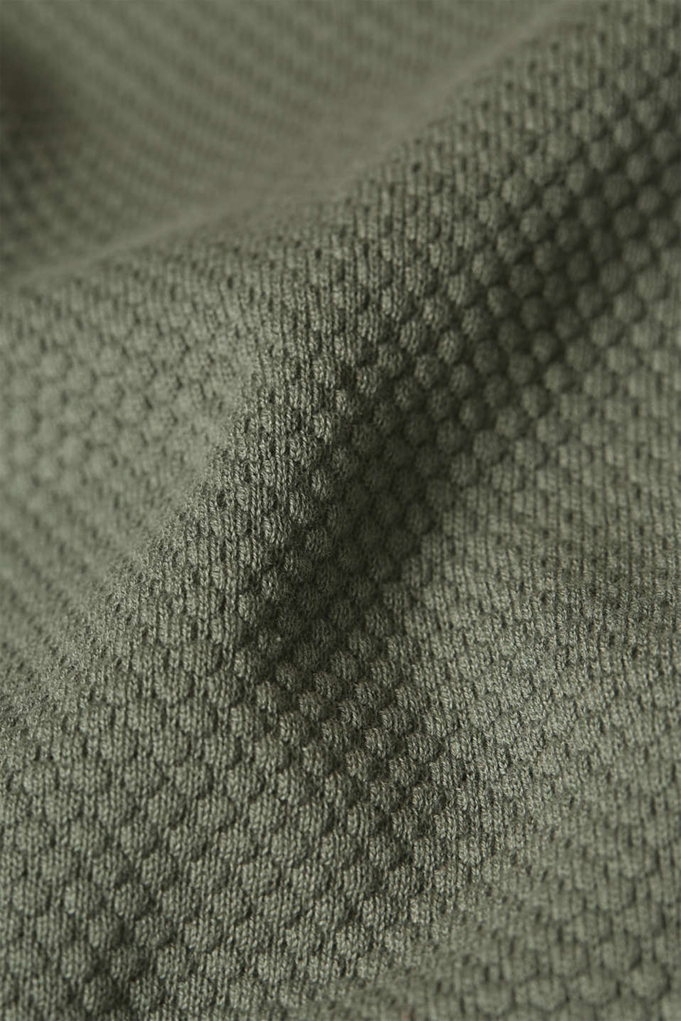 Jumper with a mix of textures, 100% cotton, KHAKI GREEN, detail image number 4