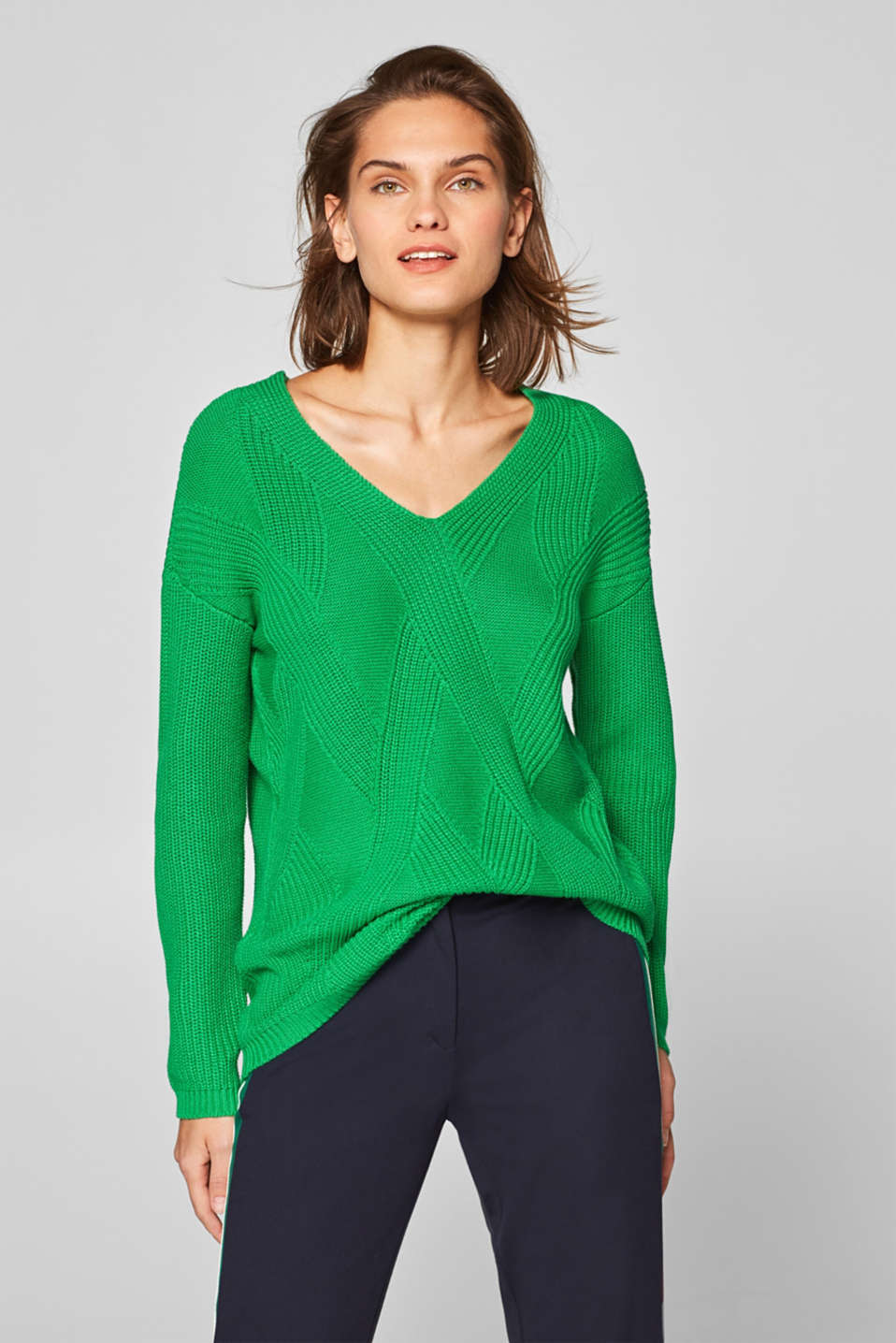 Esprit - Textured jumper made of chunky yarn