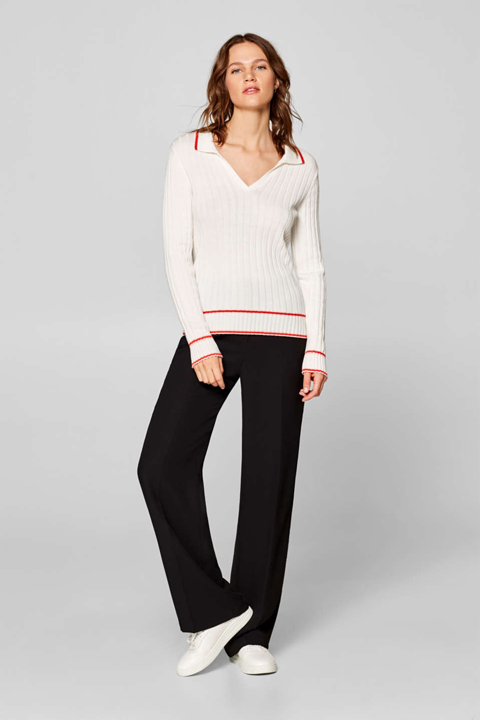 Sweaters, OFF WHITE, detail image number 1